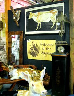 Vintage cow print as seen in at Paris on Ponce in the Absinthe Vignette