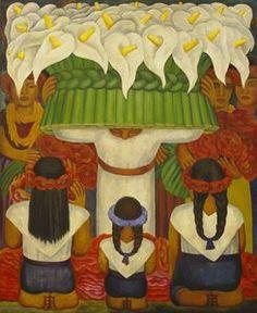 Flower Festival Fiesta de Santa Anita - (Diego Rivera) Pinned by y Lezama Art.