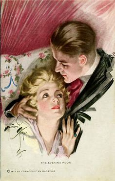The Evening Hour (1917) by Harrison Fisher for Cosmopolitan