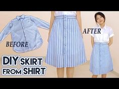 DIY   XXL MEN'S SHIRT TO GIRL'S DRESS W/ BELL SLEEVES REFASHION - YouTube
