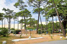 Campingplatz-Tipp bei Arcachon / Frankreich: Camping La Forêt an der Dune du Pyla Motorhome Conversions, Motorhome Interior, The Dunes, Campsite, Sidewalk, Travel, Vw Bus, Eye Cream, Dark Circles