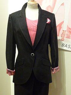 Basler Pink Zebra Jacket 38 Navy