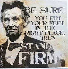 Stand firm and say strong