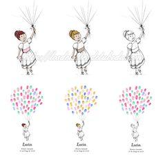 Blog de los detalles de tu boda | Árboles de huellas para comunión | http://losdetallesdetuboda.com/blog