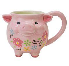 Boston Warehouse Pink Pig Figural Coffee Mug 18 oz 48764 #BostonWarehouseTradingCorp