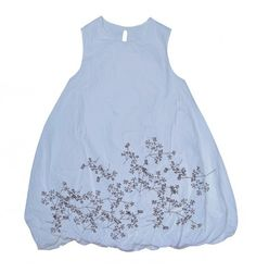 Cloud Dress in shy blue with Tumbleweed embroidery