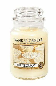 Amazon.com - Yankee Candle 22-Ounce Jar Scented Candle, Large, Buttercream