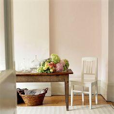 Peinture couleur pastel gris et rose en d co murale salon pastel et roses for Peinture beige rose