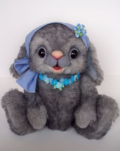 Artist+Rabbit+OOAK+by+CopiKhatz+on+Etsy,+$262.00