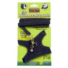 Ware Medium Critter Jeans Harness-N-Leash is a durable and stylish denim accessory for small pets. The adjustable fit makes it easy to fit any small pet. Quality real denim, quality plastic buckle and brass colored hardware make these jeans jazzy for pets Pet Guinea Pigs, Pet Pigs, Hedgehog Supplies, Pet Supplies, Pet Ferret, Teacup Pigs, Bunny Care, Mini Pigs, Pet Care Tips
