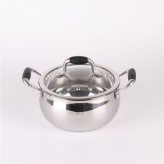 Stainless Steel StockPot with Glass Lid // 18cm  Price: 104.79 & FREE Shipping  #goodmeals