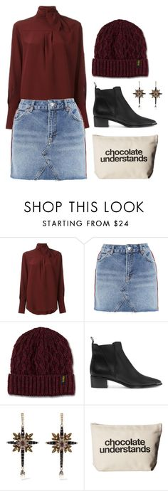 """""""Chocolate"""" by cherieaustin ❤ liked on Polyvore featuring Chloé, Topshop, Dr. Martens, Acne Studios, Alexander McQueen and Dogeared"""