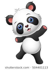 Vector illustration of Cartoon panda presenting Girly Drawings, Cute Animal Drawings, Cartoon Drawings, Cartoon Panda, Girl Cartoon, Cute Cartoon, Cute Panda Wallpaper, Bear Wallpaper, Panda Drawing