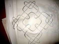 Waldorf ~ 4th grade ~ Form Drawing ~ main lesson book Form 4, Form Drawing, Celtic Designs, Activity Days, Celtic Knot, Fourth Grade, Teaching, Drawings, Chalkboard