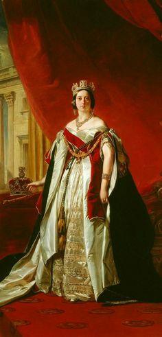 Portrait of Queen Victoria. Franz Xaver Winterhalter. 1843.