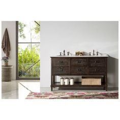 """Best Deal - Legion Furniture WH5260 60"""" WOOD SINK VANITY WITH MARBLE TOP-NO FAUCET"""