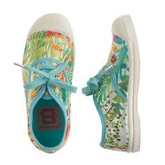 Oh, so perfect for spring and summer and vacays to tropical climes . . . too perfect to just be made in for little feet! Girls Bensimon Elly tennis shoes in Liberty tresco floral @J.Crew