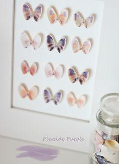 butterflies made from clam shells