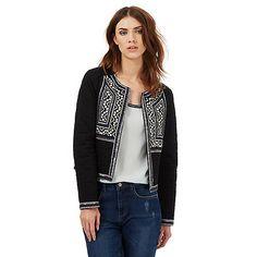 Nine by Savannah Miller Black embroidered trophy jacket | Debenhams