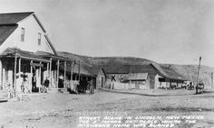 """pogphotoarchives: """" Main Street of Lincoln, New Mexico showing Watson house, site of burned McSween house, and Tunstall Store Creator: Frasher Negative Number 105473 """" Pictures Of People, Old Pictures, Vintage Pictures, Old West Outlaws, Old West Town, Old West Photos, New Mexico Usa, Western World, Land Of Enchantment"""