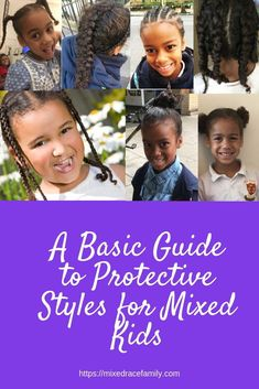 Understanding the Basics of Protective Styles Biracial Hair Mixed Race Hair Natural Hair Mixed Kids Hairstyles, Easy To Do Hairstyles, Boy Hairstyles, Protective Hairstyles, Protective Styles, Haircuts, Cornrows With Box Braids, Twist Braids, Biracial Children
