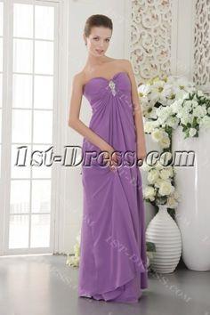 Purple Empire Chiffon Maternity Prom Dress for Plus Size Maternity Prom Dresses, Prom Colors, Body Shapes, Pageant, Hemline, Wedding Venues, Chiffon, Glamour, Plus Size