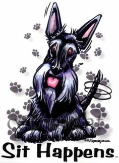Scottish Terrier Cartoon scottie dogs: cartoons and sayings on ...