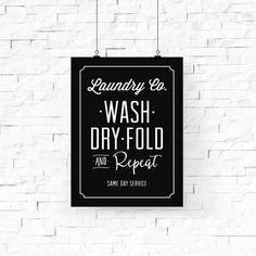 Digital download of laundry room art Wash, Dry, Fold and Repeat. Download and print the artworks from your home easily and beautifully with our high-quality JPG art files. WAYS TO PRINT YOUR ART: • Print from home or office • Email your files to a local print shop, like Staples,