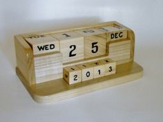 Handcrafted Perpetual Calendar