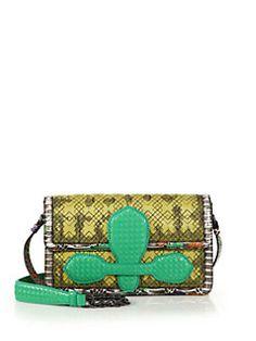 Bottega Veneta - Mangrovia Snakeskin & Leather Shoulder Bag