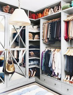 Best Dressed Closets: Wardrobe Organization Techniques for Fall, Laurel & Wolf, via My Domaine