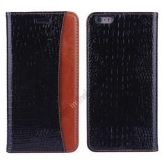 Crocodile Wallet Flip Leather Case for iPhone 6 4.7inch - Black US$12.99