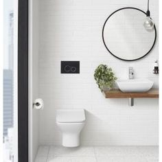 Swiss Madison 0.8/1.28 GPF Plaisir Wall Hung Dual Flush Elongated Toilet Bowl in White-SM-WT660 - The Home Depot Black Toilet, Back To Wall Toilets, Clean Plates, Wall Mounted Toilet, Clean Design, 1 Piece, Simple, Furniture, Bathroom Ideas