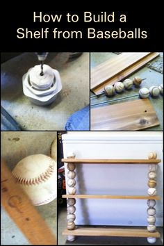 Does your home need extra shelf space? If you have old baseballs lying around, give them a new lease on life and by turning them into a baseball shelf! We say this is a perfect gift for any baseball aficionado.