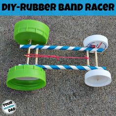 DIY Rubber Band car Check out how to make this super cool DIY Rubber band car (Cool Crafts For Kids) Steam Activities, Science Activities, Science Projects, Summer Activities, School Projects, Science Experiments, Fun Activities With Kids, Stem Projects For Kids, Stem For Kids