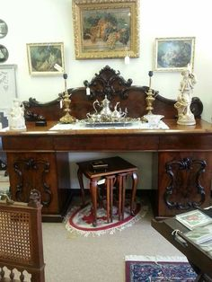 Carved Mahogany Buffet imported from Germany.