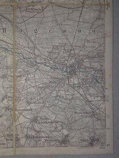 Kaart : Elzas Lotharingen - Haguenau - 1886