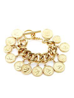 Chanel CC Coin Chain Station Bracelet