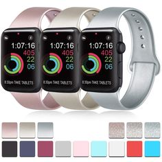 Pack 3 Compatible with Apple Watch Band Soft Silicone Band Replacement for Apple iWatch Series 5 Series 4 Series 3 Series 2 Series 1 Phones-Accessories Accessories Bands Accessories-Peripherals Devices Pens Apple Sport Band, Apple Band, Apple Watch Bands, Best Apple Watch, Apple Watch Series, Mobile Accessories, Cell Phone Accessories, 1 Rose, Watch Model
