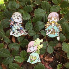 Flora Enamel Pins