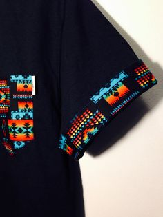 Tribal print pocket & sleeve cuffs 100% cotton double stitch reinforcement sleeve cuffs can flip down and be hidden or worn up to reveal the pattern each shirt/pattern is cut, stitched, and placed by me. **all mens sizes. *These shirts are NOT premade. Each one is sewn once ordered. I...