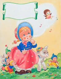 Mary Had A Little Lamb 2 (Original) art by E Dorothy Rees at The Illustration Art Gallery Vintage Children's Books, Vintage Cards, Vintage Images, Popular Fairy Tales, Decoupage, Vintage Nursery, Gif Animé, Character Costumes, Children's Book Illustration