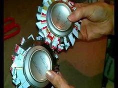 como hacer un porta velas con una lata (tin ashtray )