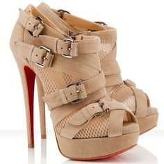 Christian Louboutin Booties Mad Marta 150mm Beige