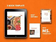 Sale 16 Pages Recipe eBook Template, PowerPoint Template, Bullet Journal Template, eBook Design Template, Workbook