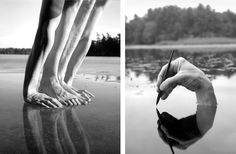 really cool photography - perspective, contrast, mirroring - #photography #bodyart