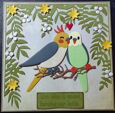 Marianne Design Cards, Diy And Crafts, Paper Crafts, Bird Cards, Pretty Cards, Punch Art, Hibiscus, Parrot, Cardmaking