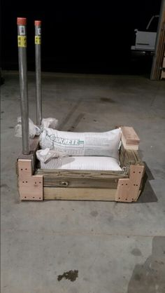 DIY rogue dogsled-BW sandbag for weight
