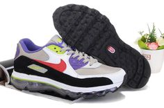 Svart Lila Röd Man Nike Air Max 09+90 Skor 18066