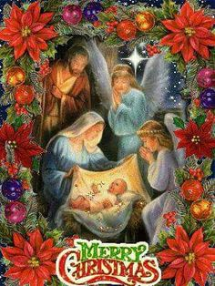 The Greatest Gift of All Time. Jesus Is the Reason for the Season Happy Birthday Jesus. Have a Very Merry CHRISTmas Christmas Night, Christmas Scenes, Christmas Nativity, Christmas Past, Christmas Images, Christmas Greetings, Christmas Holidays, Christmas Decorations, Beautiful Christmas Pictures